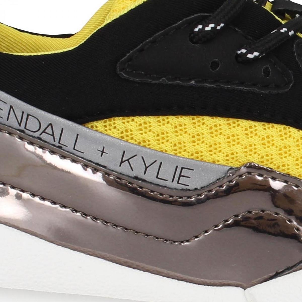 KENDALL + KYLIE Nikki toile Femme Noir Jaune