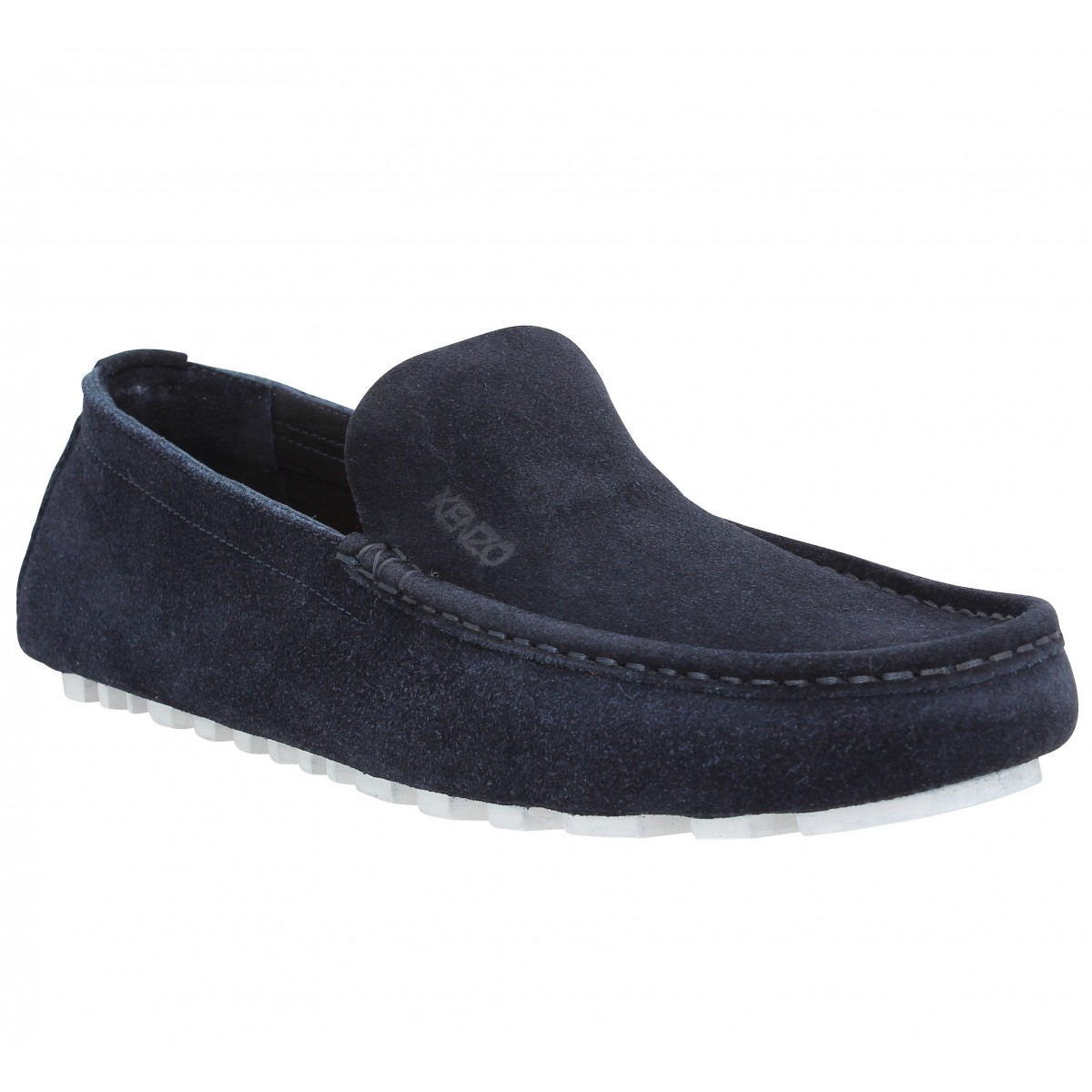 Mocassins KENZO Lane Reversed velours Homme Marine