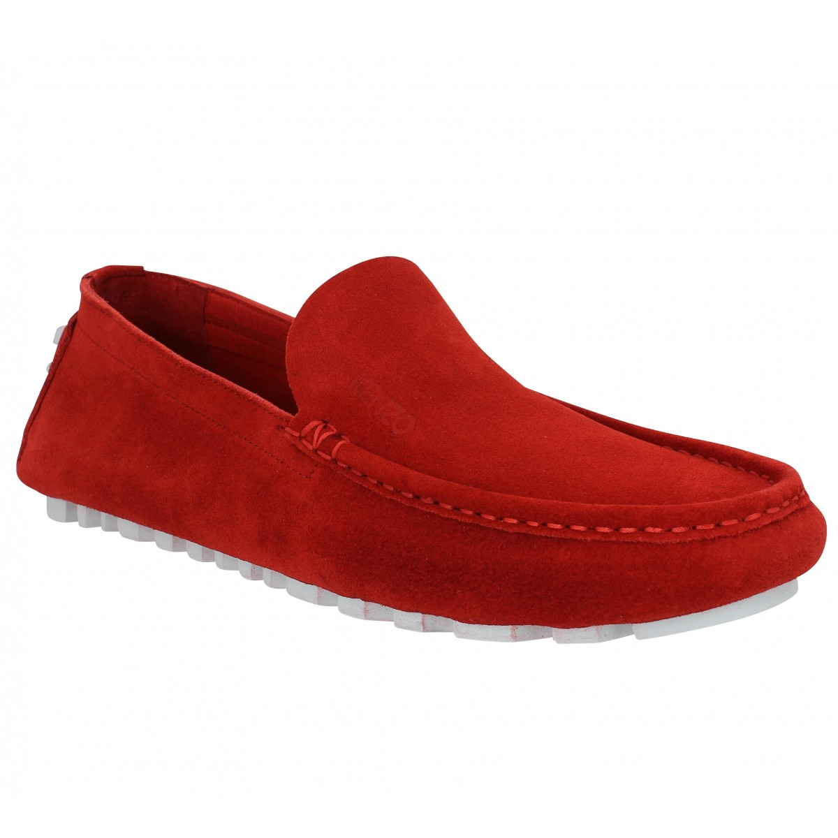 Mocassins KENZO Lane Reversed velours Homme Rouge