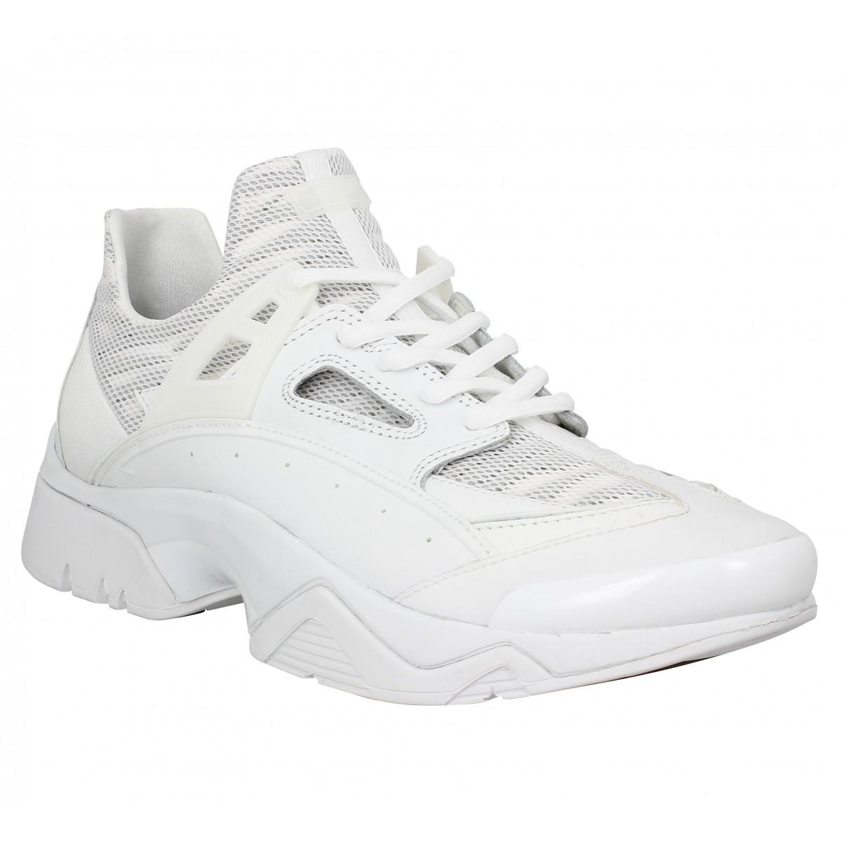 b5d82a19b19 Chaussures Kenzo sonic blanc homme