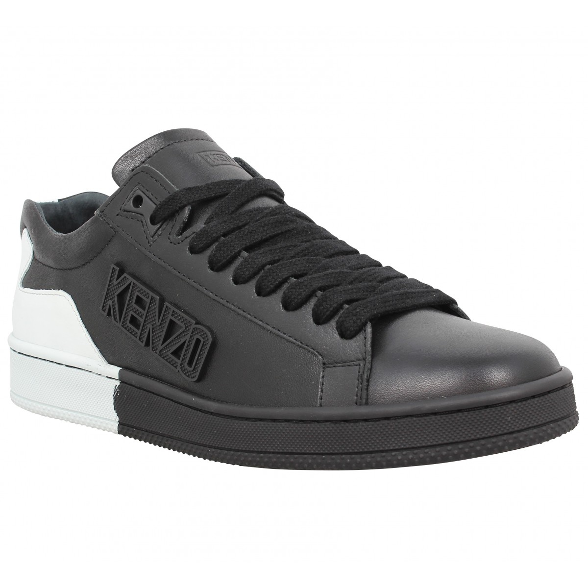 soldes kenzo tennix bicolore cuir homme noir homme fanny chaussures. Black Bedroom Furniture Sets. Home Design Ideas