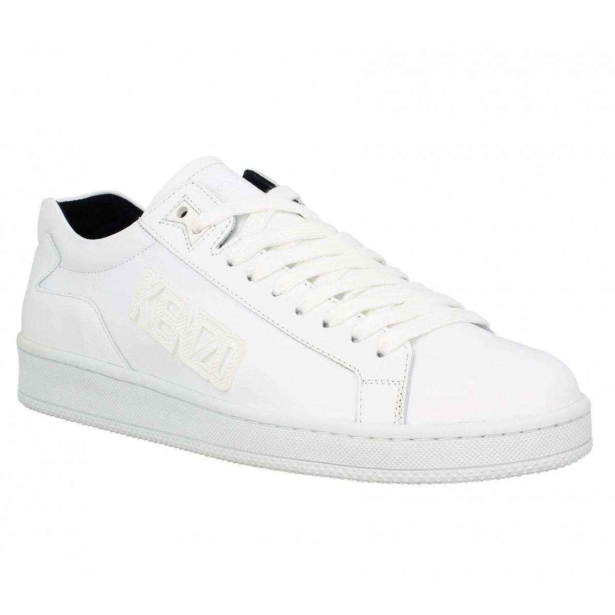 a68e42bc9a3d Kenzo tennix cuir homme blanc   Fanny chaussures