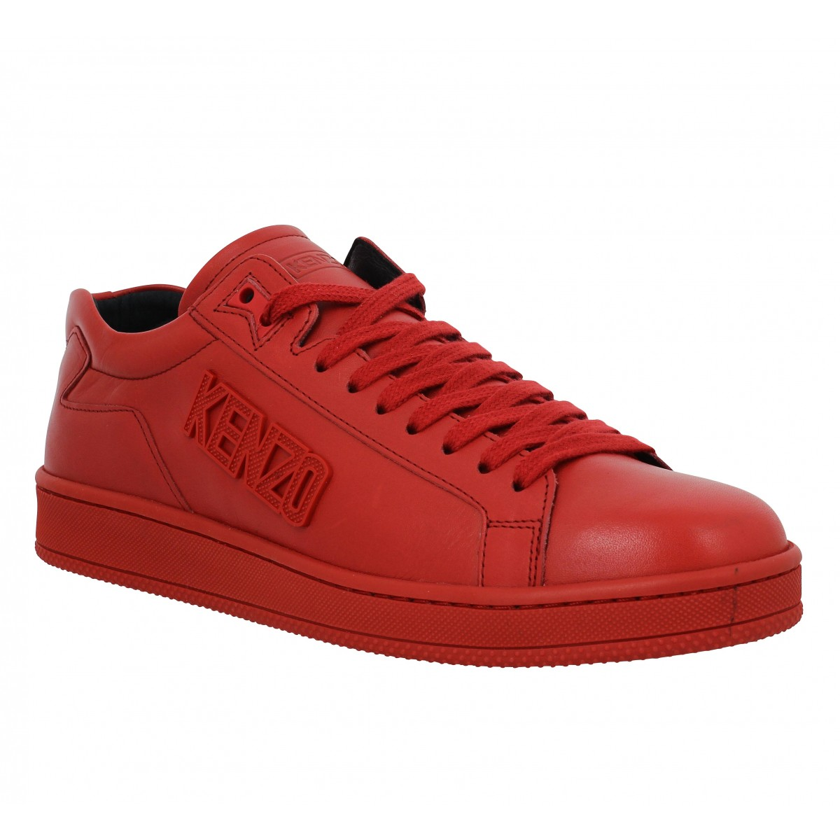 Baskets KENZO Tennix cuir Homme Rouge