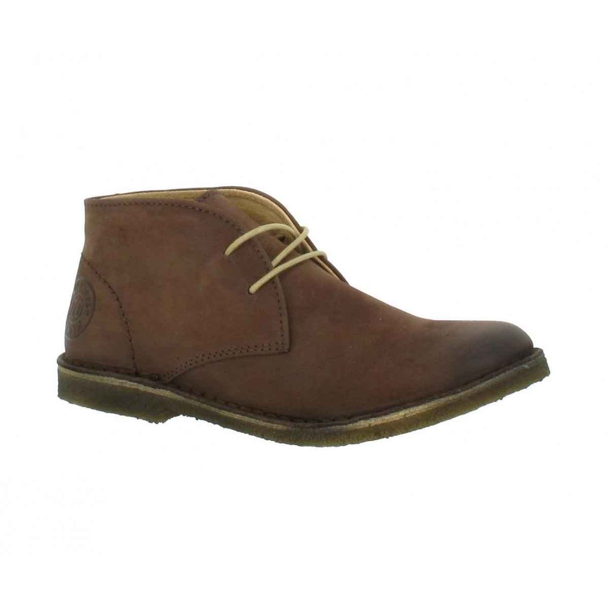 Bottines KICKERS Crepy nubuck Femme Marron fonce