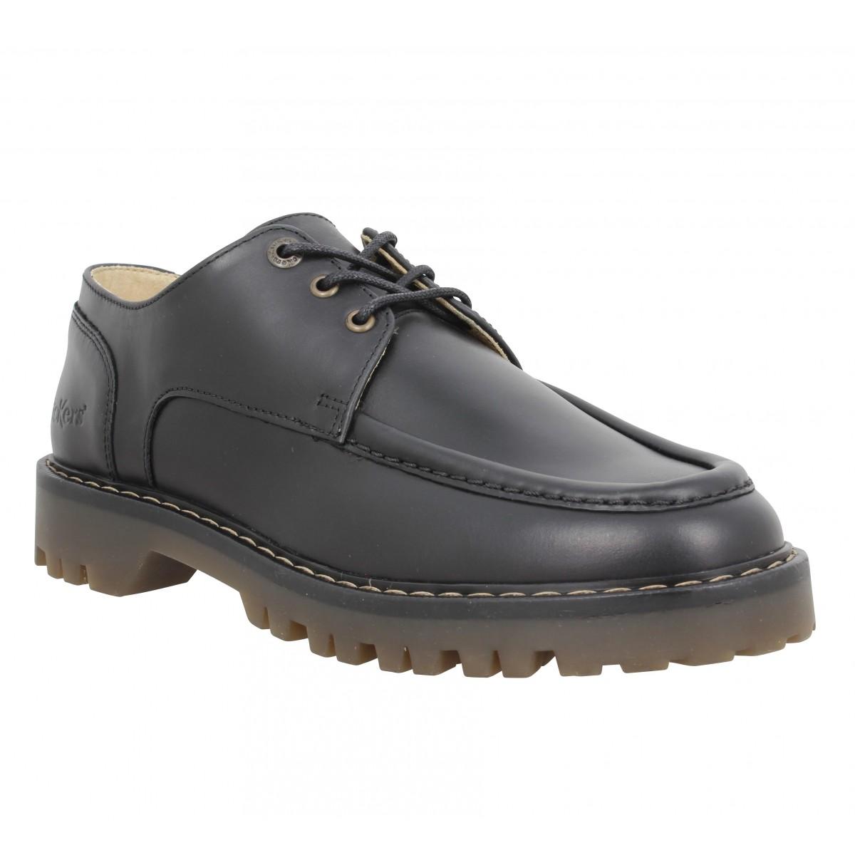 Chaussures à lacets KICKERS Decklow cuir Femme Noir