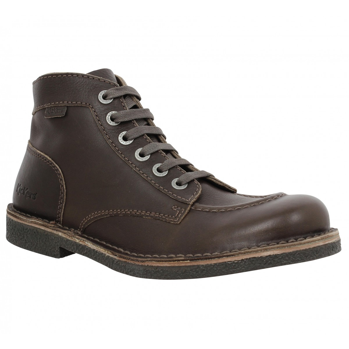 Bottines KICKERS Kick Stone box Homme Marron