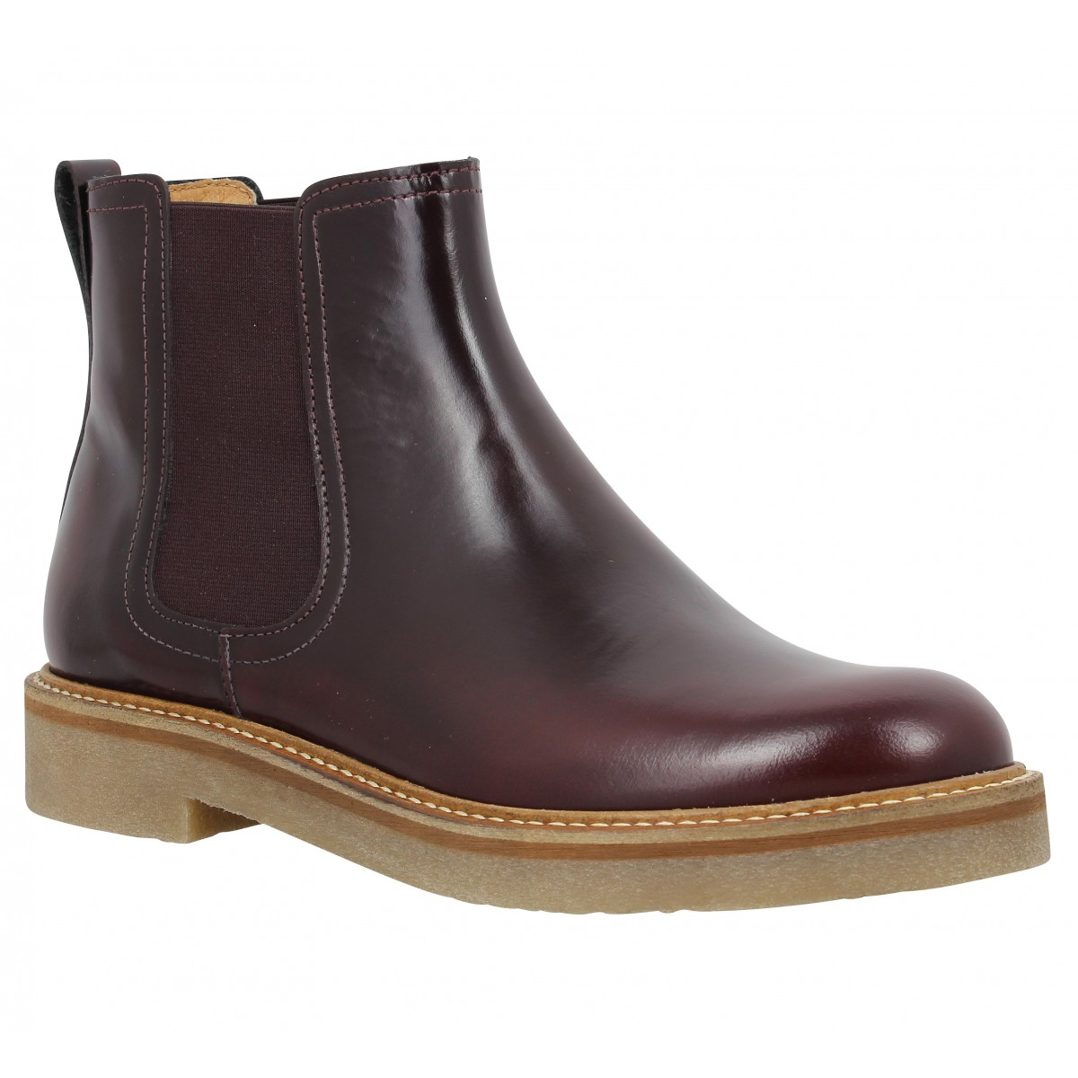 Bottines KICKERS Oxford Chic Femme Bordeaux
