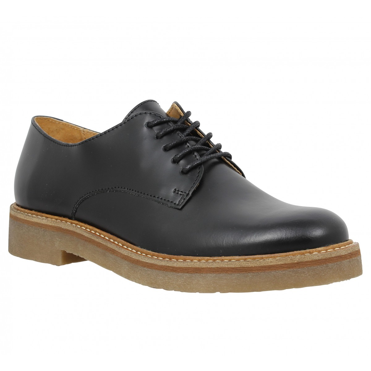Chaussures à lacets KICKERS Oxfork Femme Noir