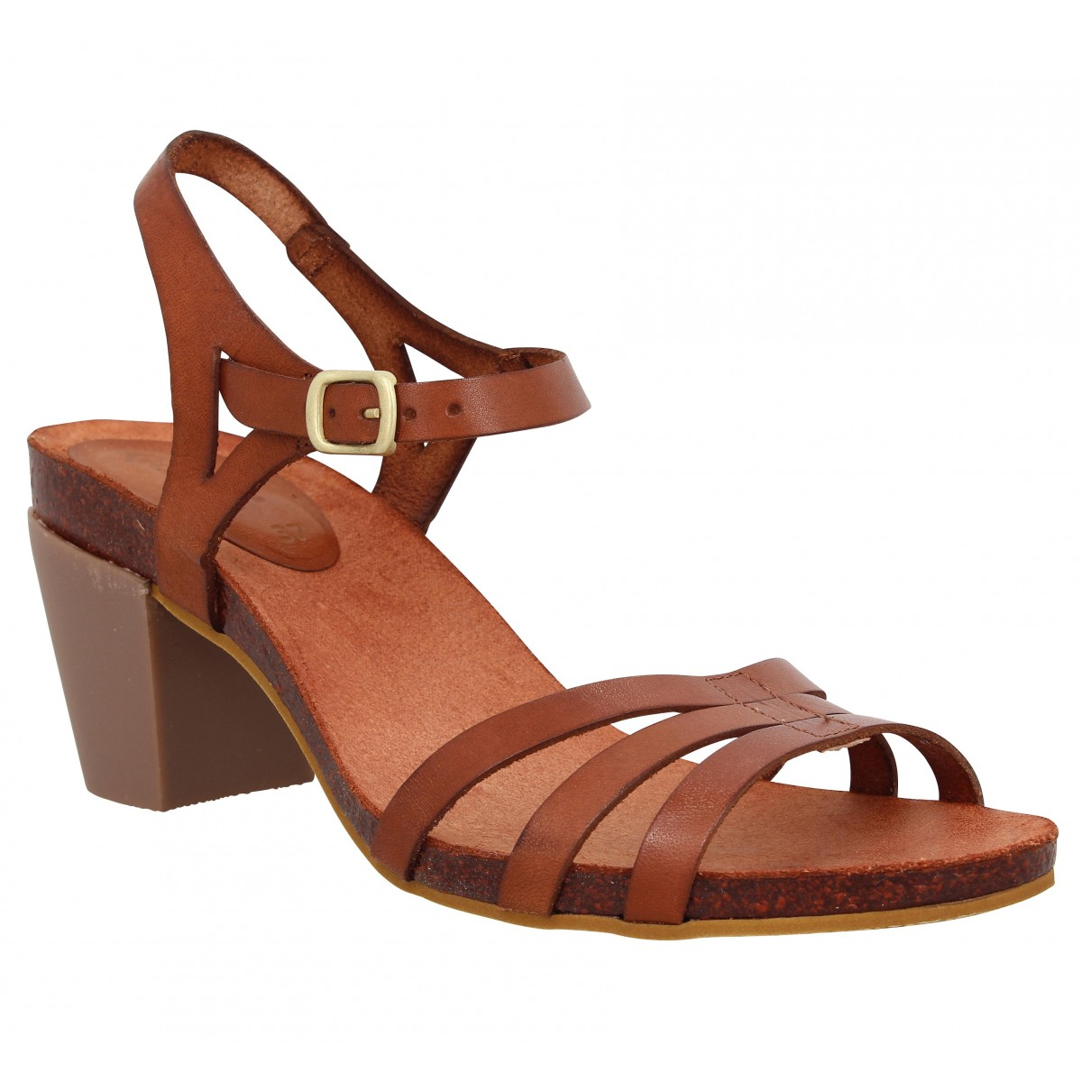 Kickers Femme Pacome Cuir -41-camel
