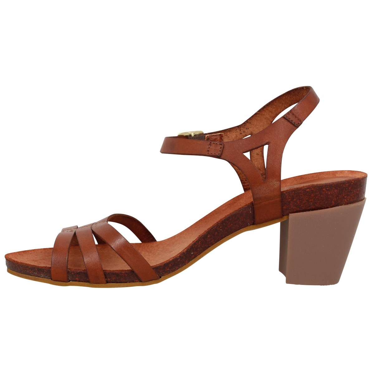 KICKERS Pacome cuir Femme Camel