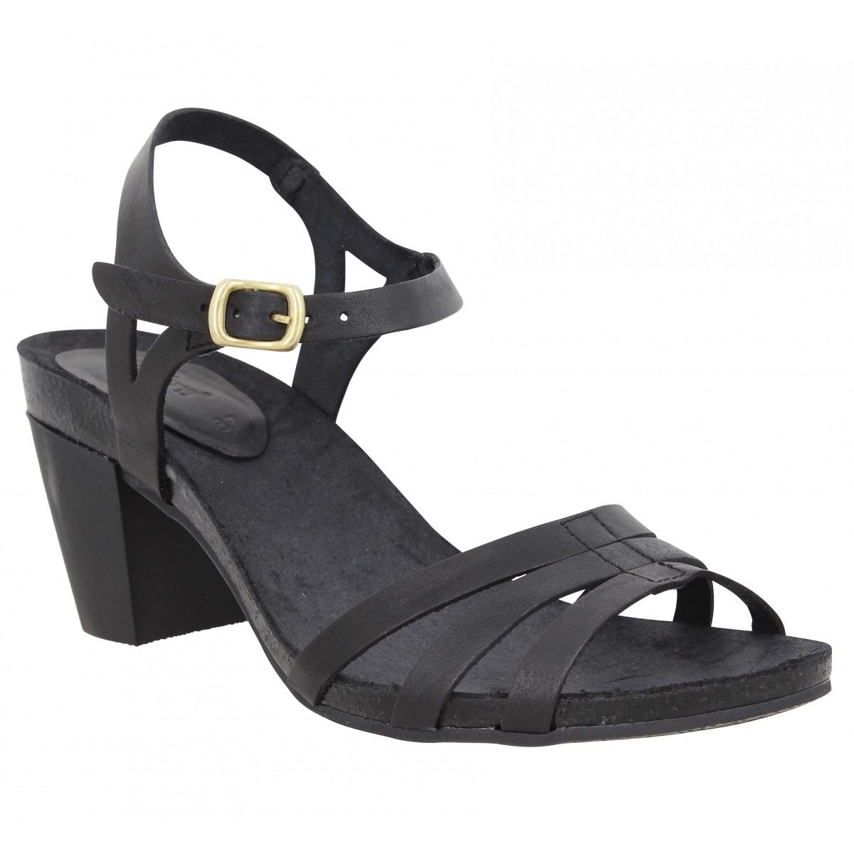 Sandales talons KICKERS Pacome cuir Femme Noir