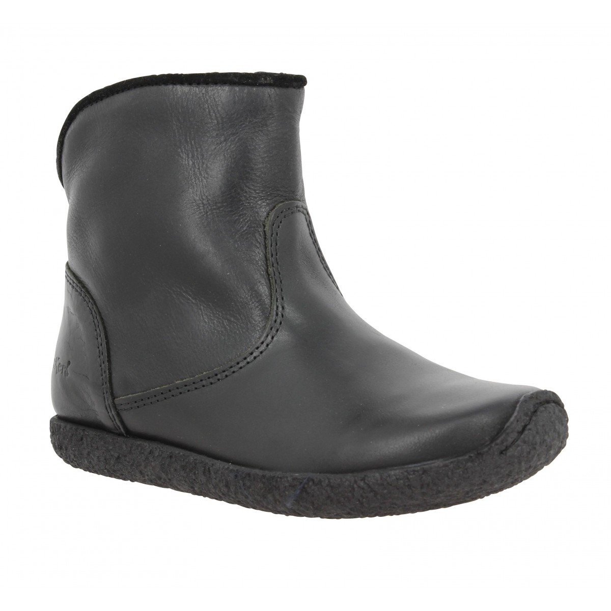 Bottines KICKERS Univers cuir Enfant Noir