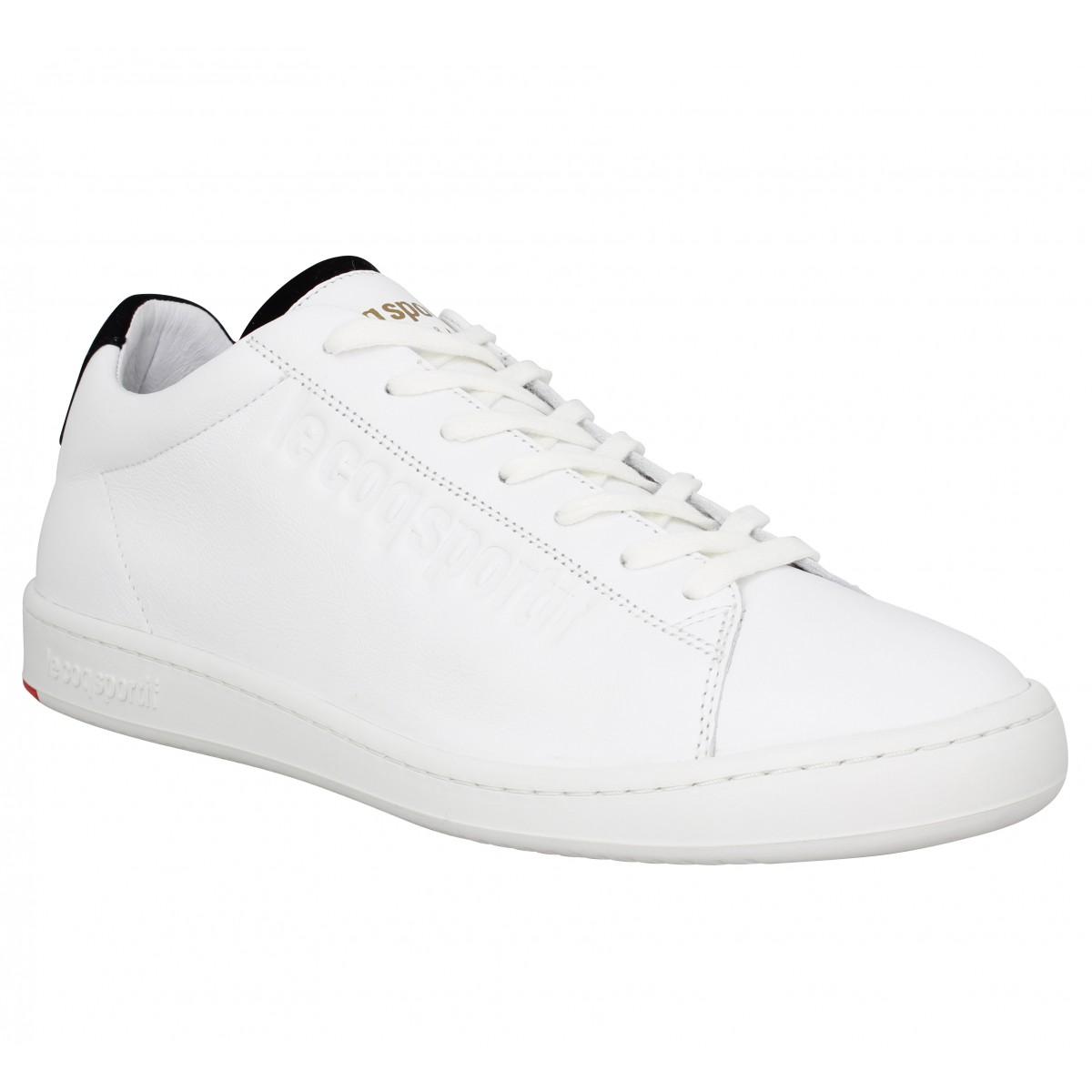 95a00d8713c8 Le coq sportif blazon cuir homme blanc homme | Fanny chaussures