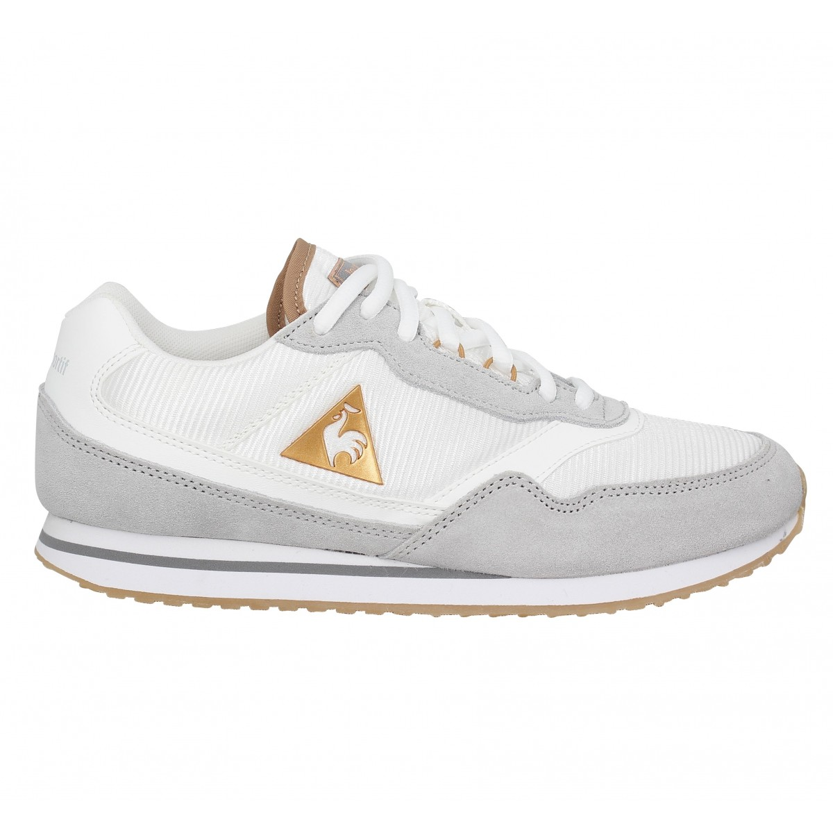 soldes le coq sportif louise toile femme blanc femme fanny chaussures. Black Bedroom Furniture Sets. Home Design Ideas