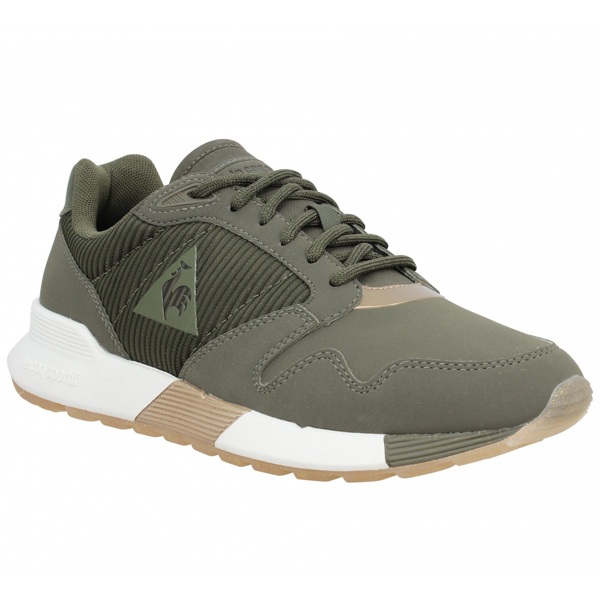 3268fd7934c3 Baskets LE COQ SPORTIF Omega X Striped toile Femme Olive