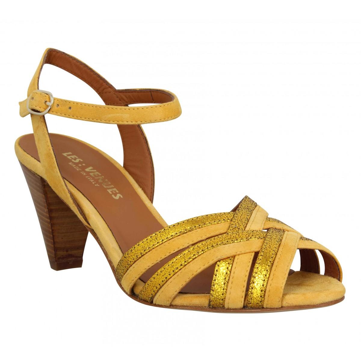 Les Venues Femme 344 Velours -35-jaune