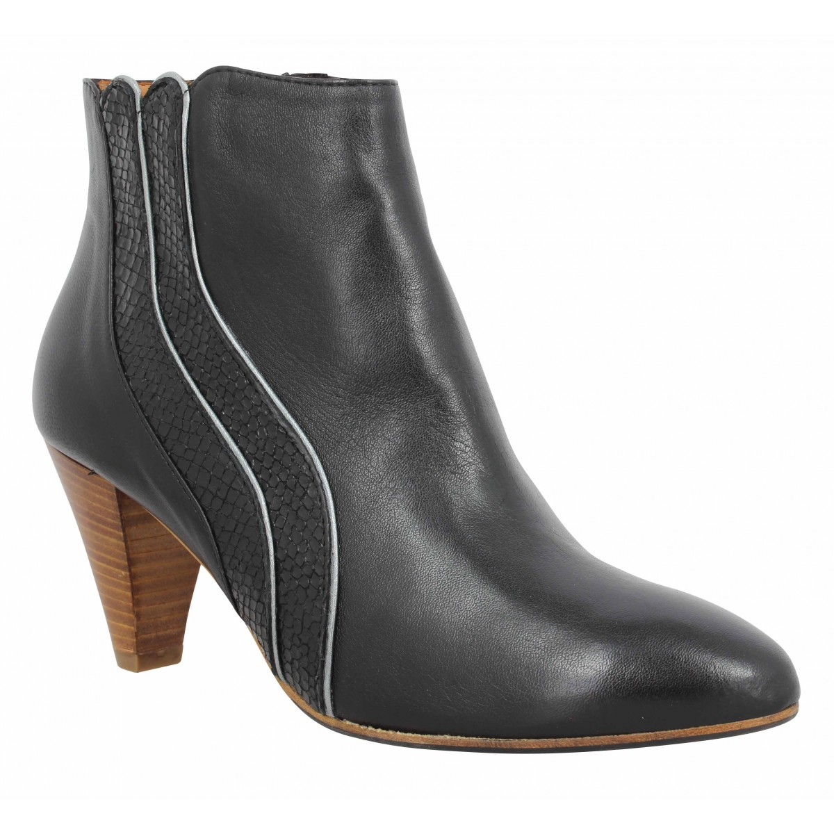 Bottines LES VENUES 4362 cuir Femme Noir