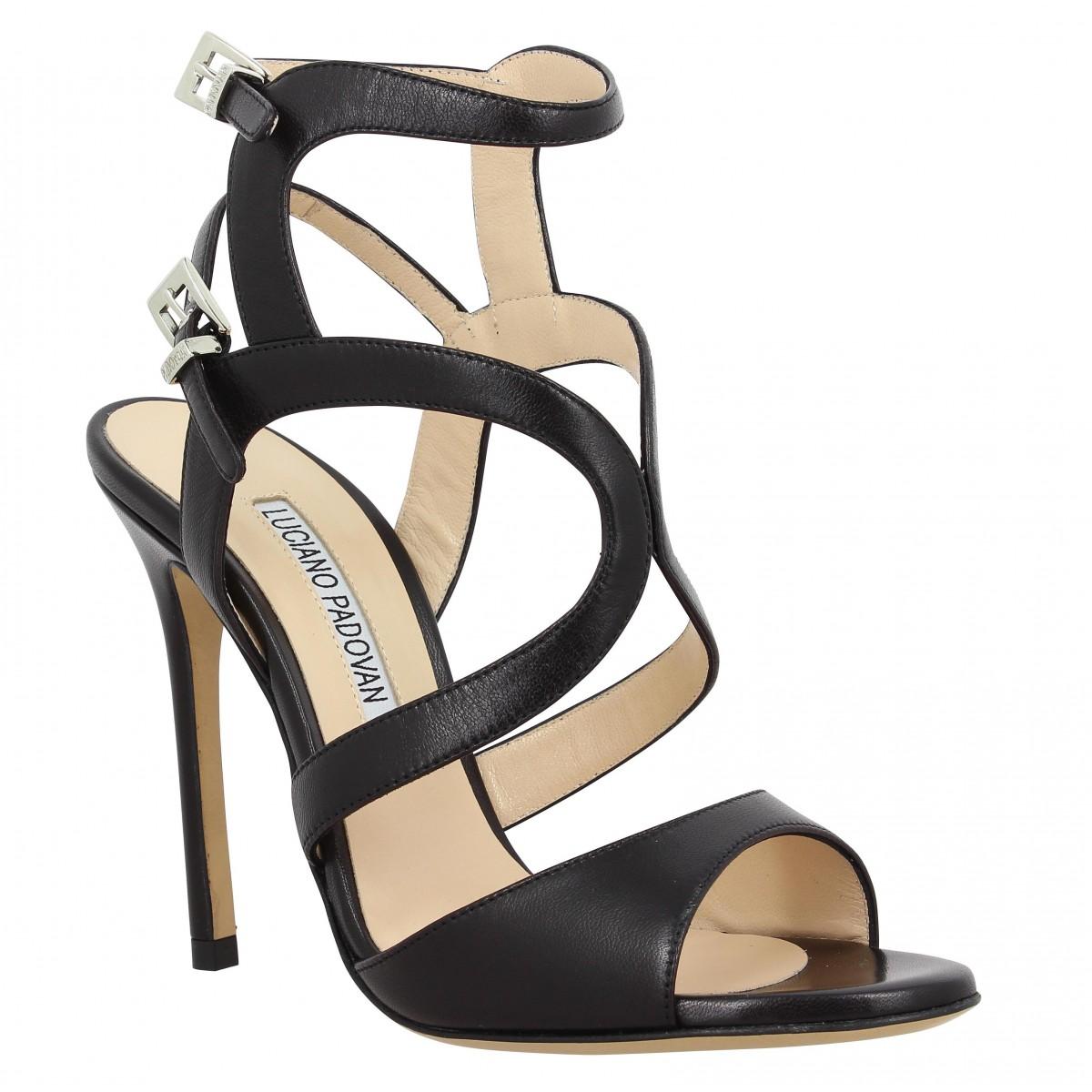 Sandales talons LUCIANO PADOVAN 119 cuir Femme Noir