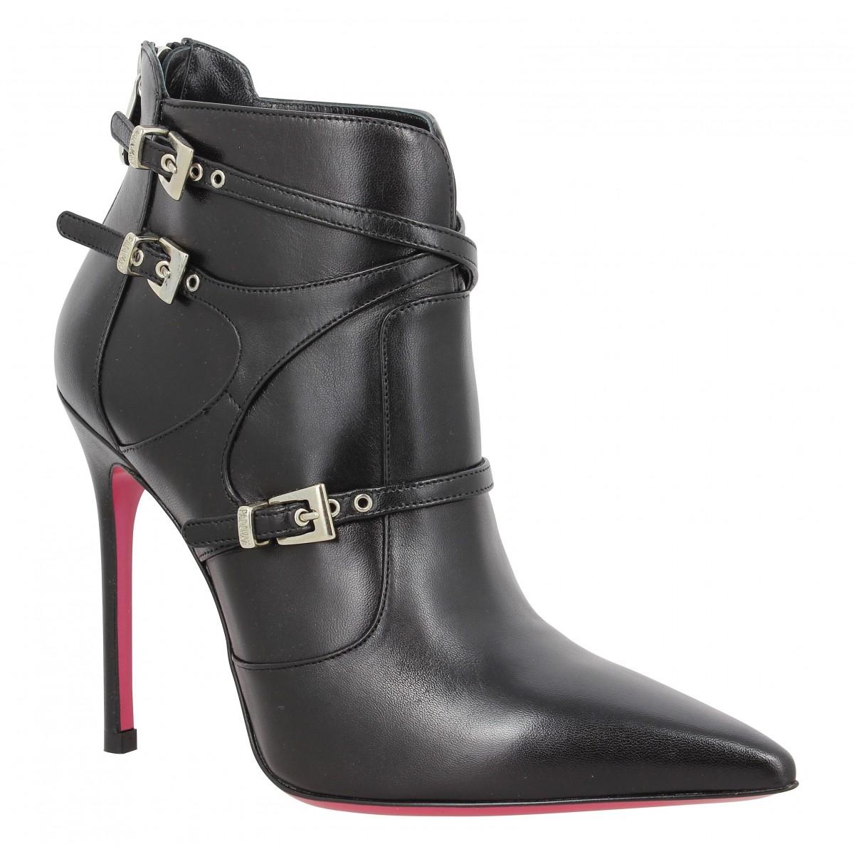 Bottines LUCIANO PADOVAN 155 cuir Femme Noir