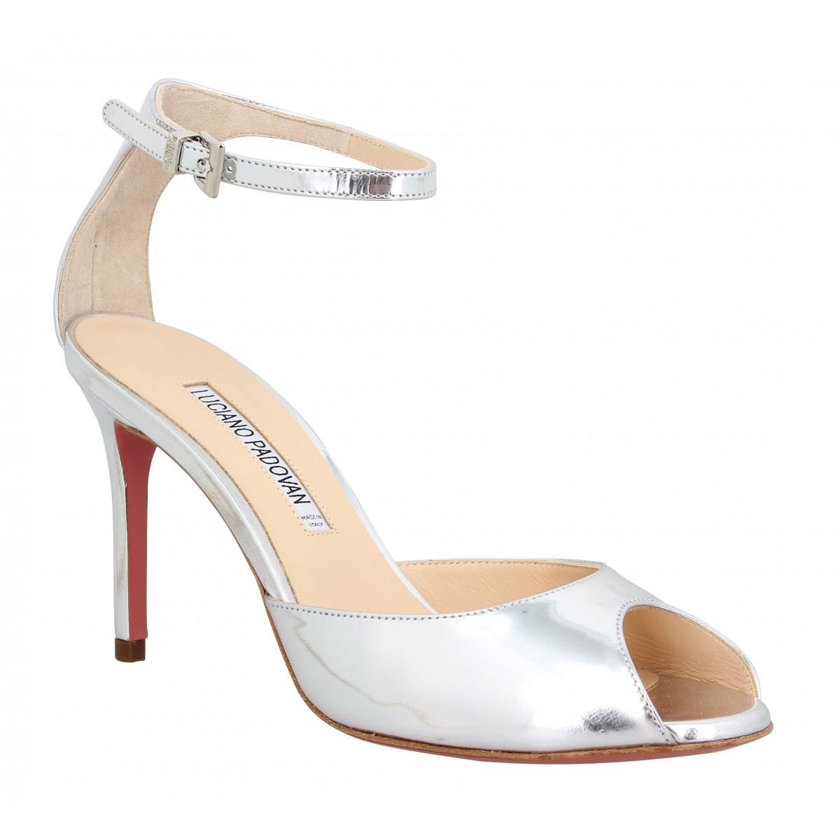 Sandales talons LUCIANO PADOVAN 306 cuir Femme Argent