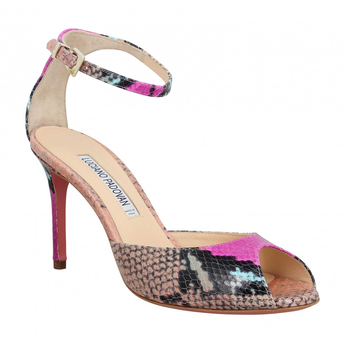 Sandales talons LUCIANO PADOVAN 306 python Femme Multi