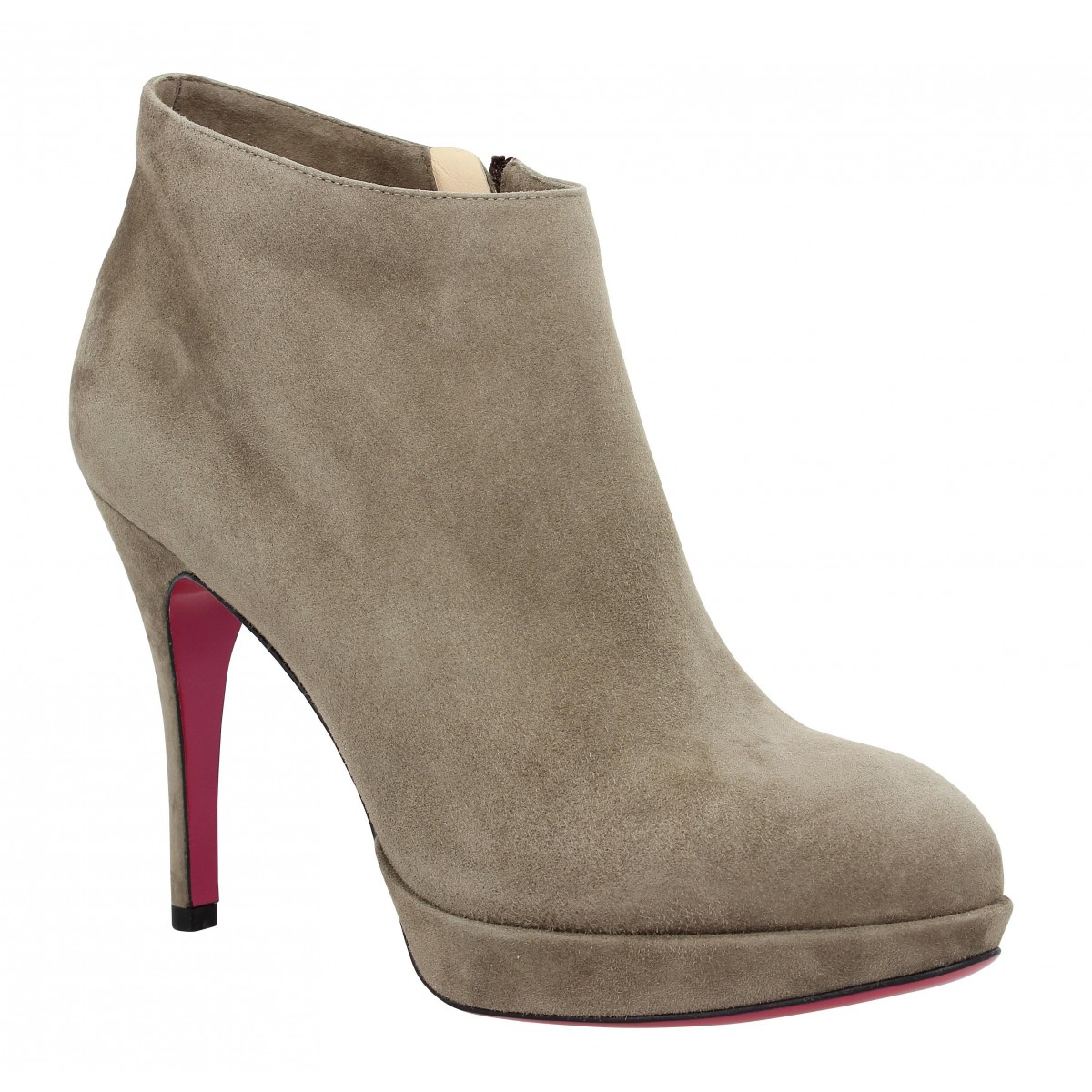 Bottines LUCIANO PADOVAN 516 velours Femme Taupe