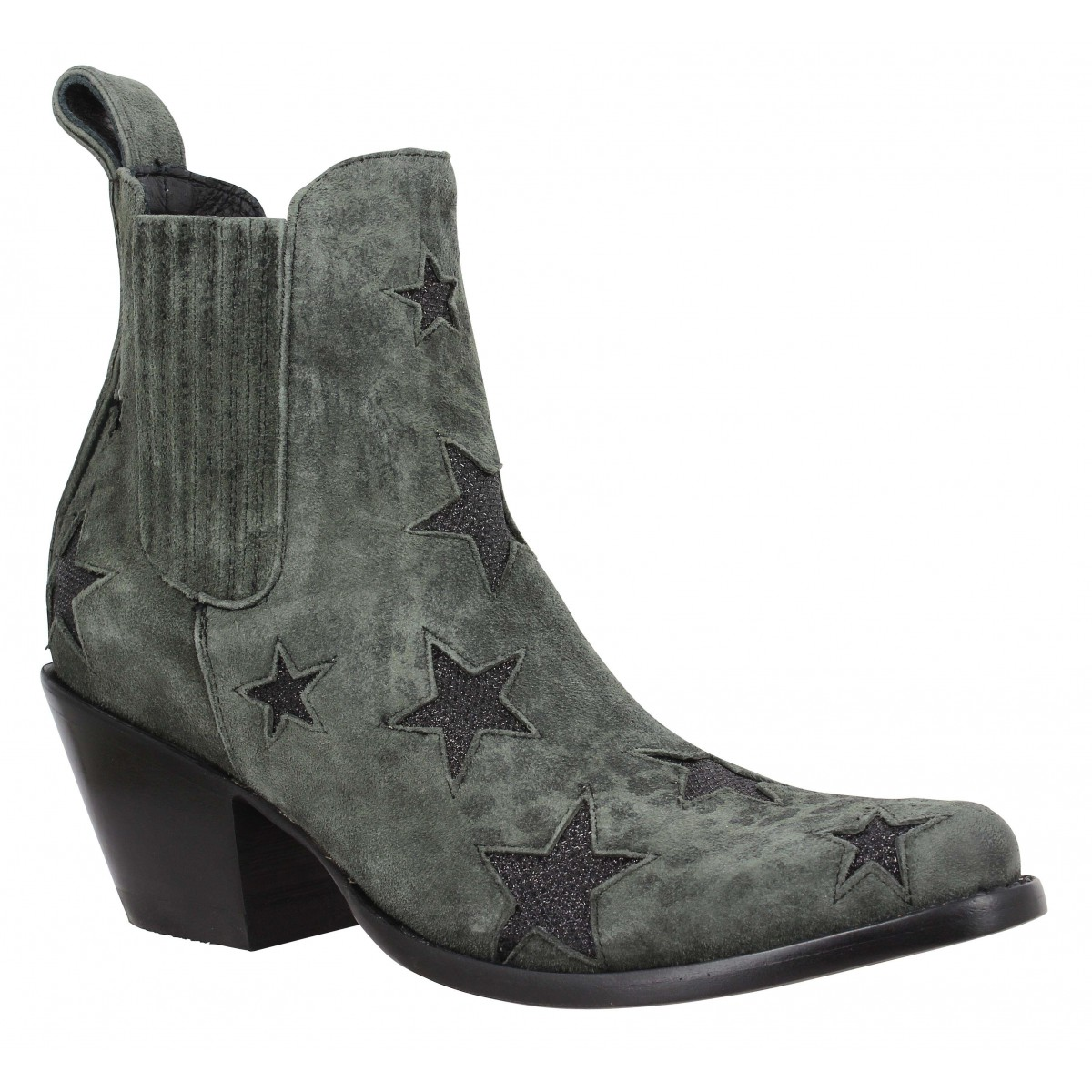 Bottines MEXICANA Circus velours Femme Carbone