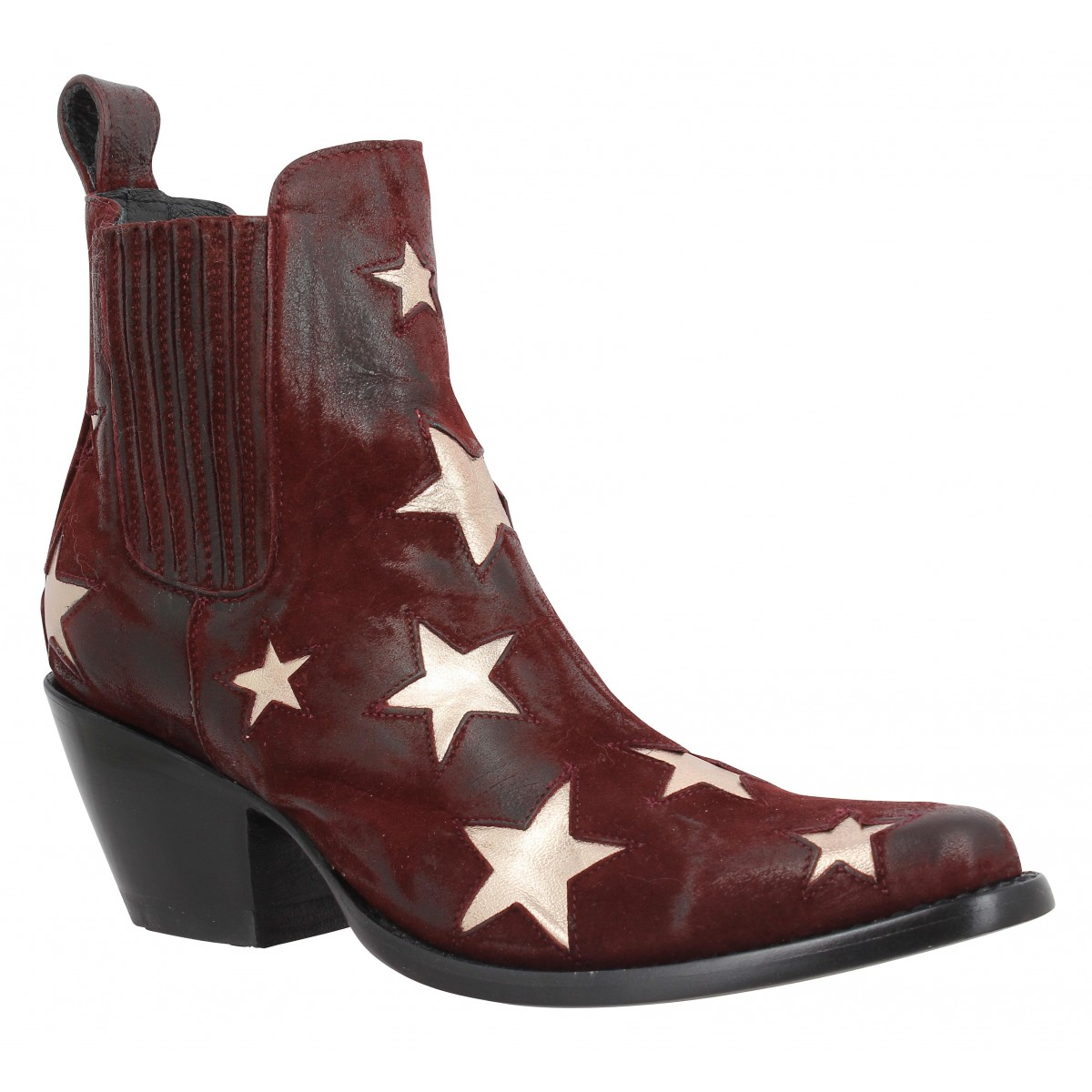 Bottines MEXICANA Circus velours Femme Wine
