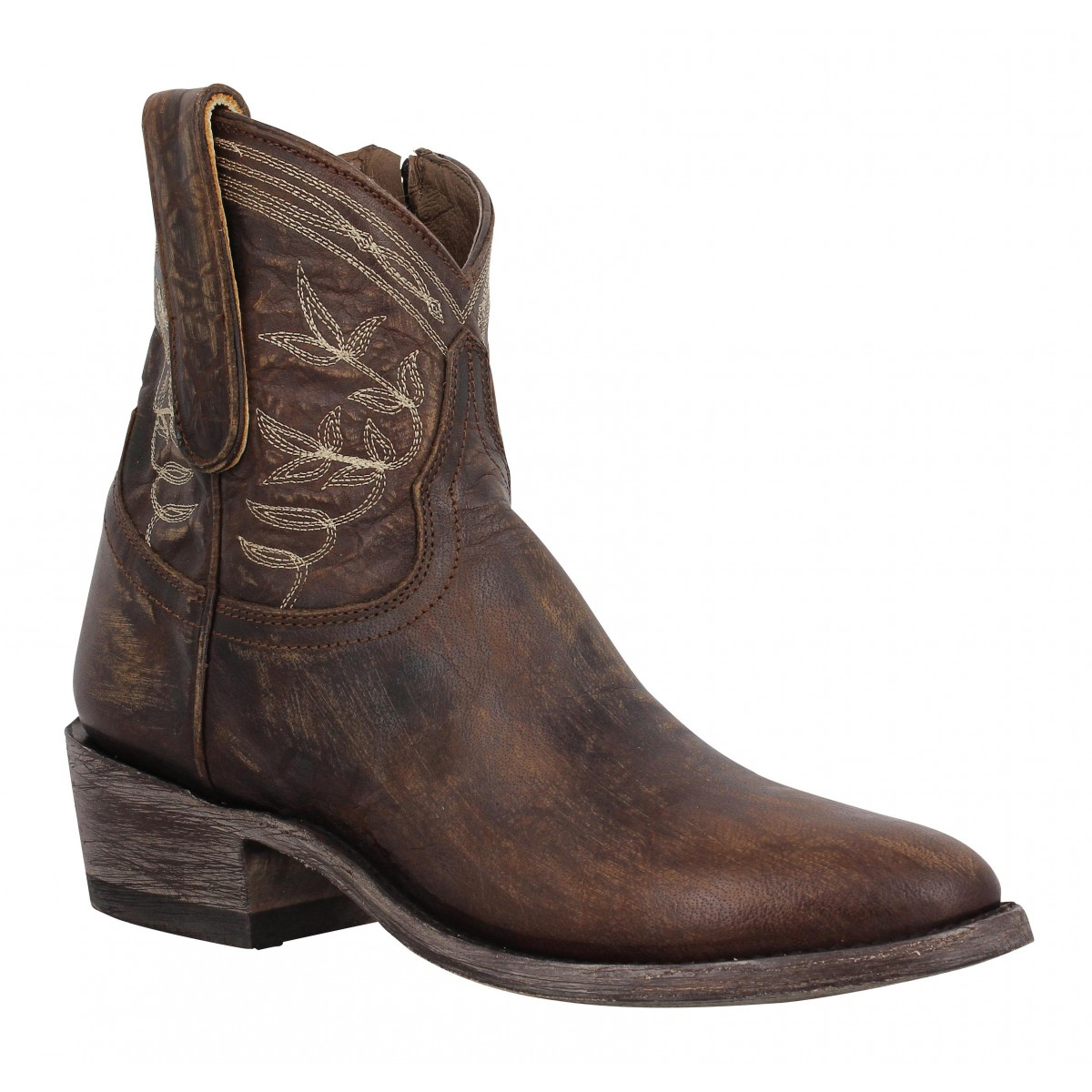 Bottes MEXICANA Polo Zipper 4 cuir Marron