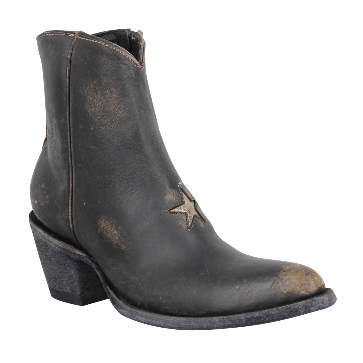 Bottines MEXICANA Star 2 cuir Femme Noir