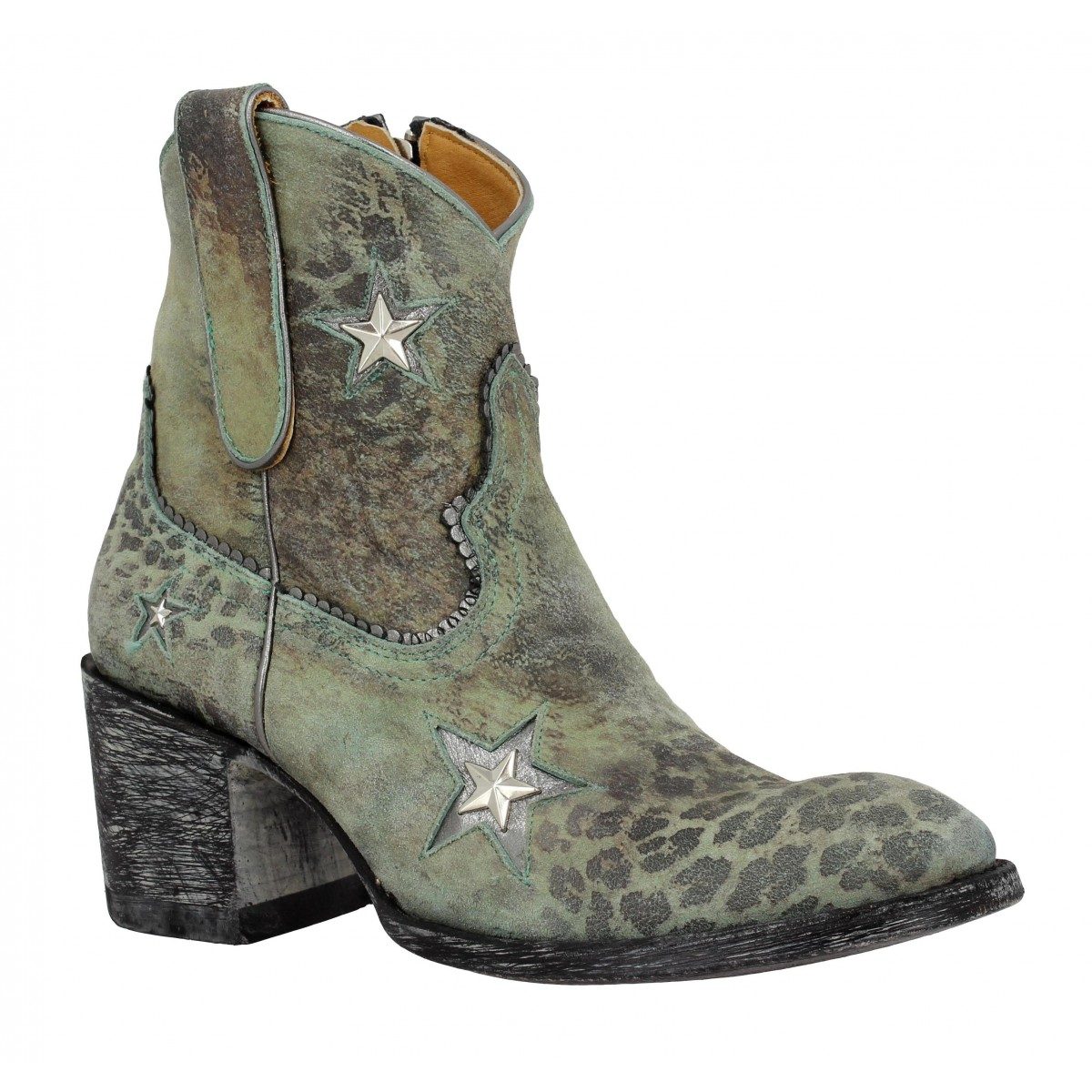 Bottines MEXICANA Tristar Plus 7 velours Femme Turquoise