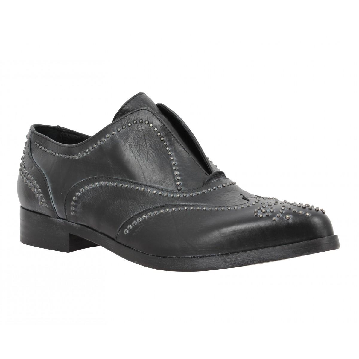 Chaussures à lacets MIMMU 2842 cuir Femme Noir