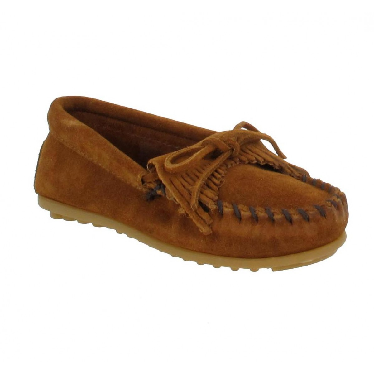 Mocassins MINNETONKA Kilty velours Enfant Marron