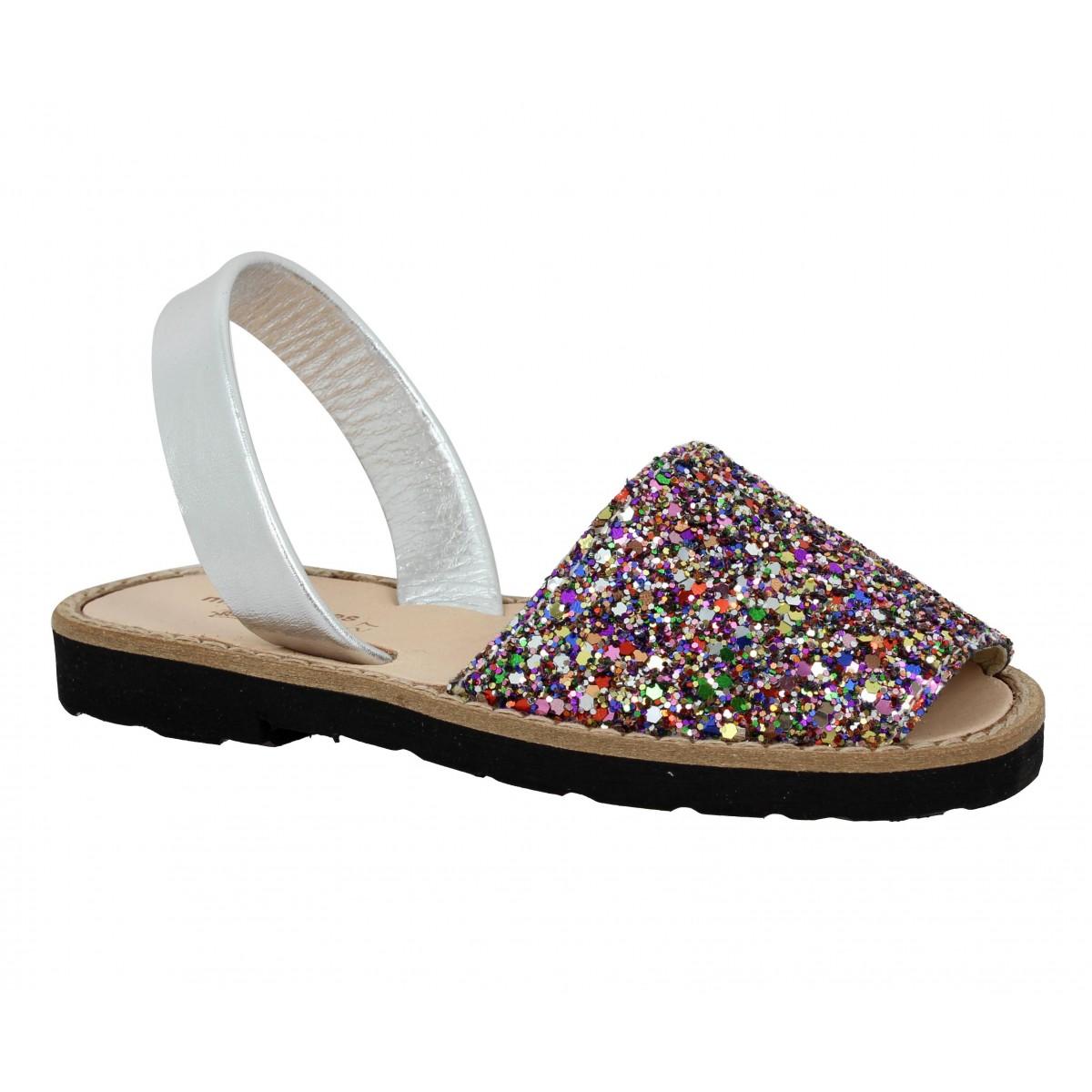 Sandales MINORQUINES Avarca glitter Enfant Multicolor