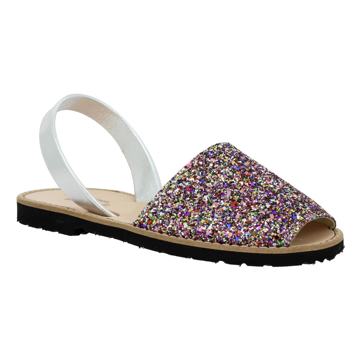 Nu-pieds MINORQUINES Avarca glitter Femme Multicolor