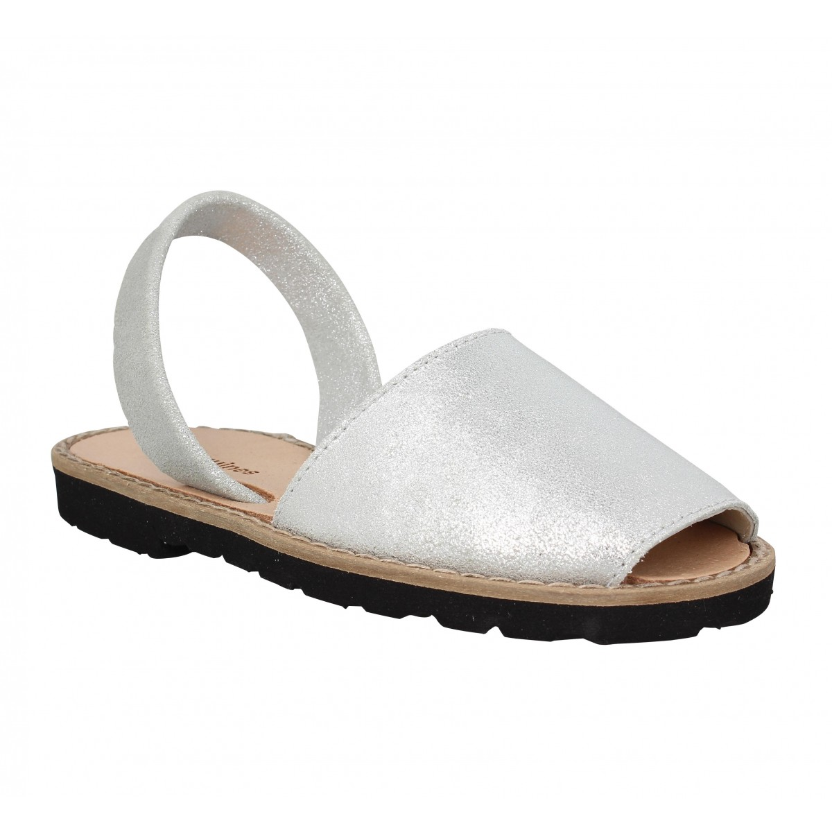 Sandales MINORQUINES Avarca velours magic Enfant Blanc