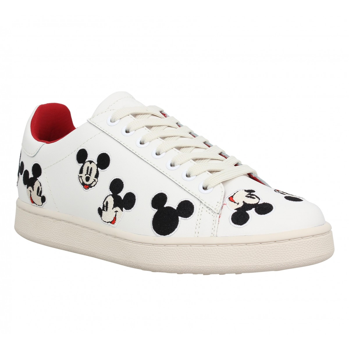 Baskets MOA - Master Of Arts Disney cuir Femme Blanc