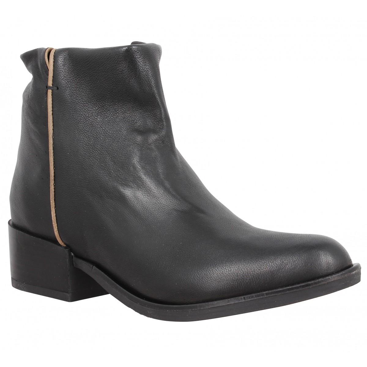 Bottines MORENA GABBRIELLI T1390 cuir Femme Noir