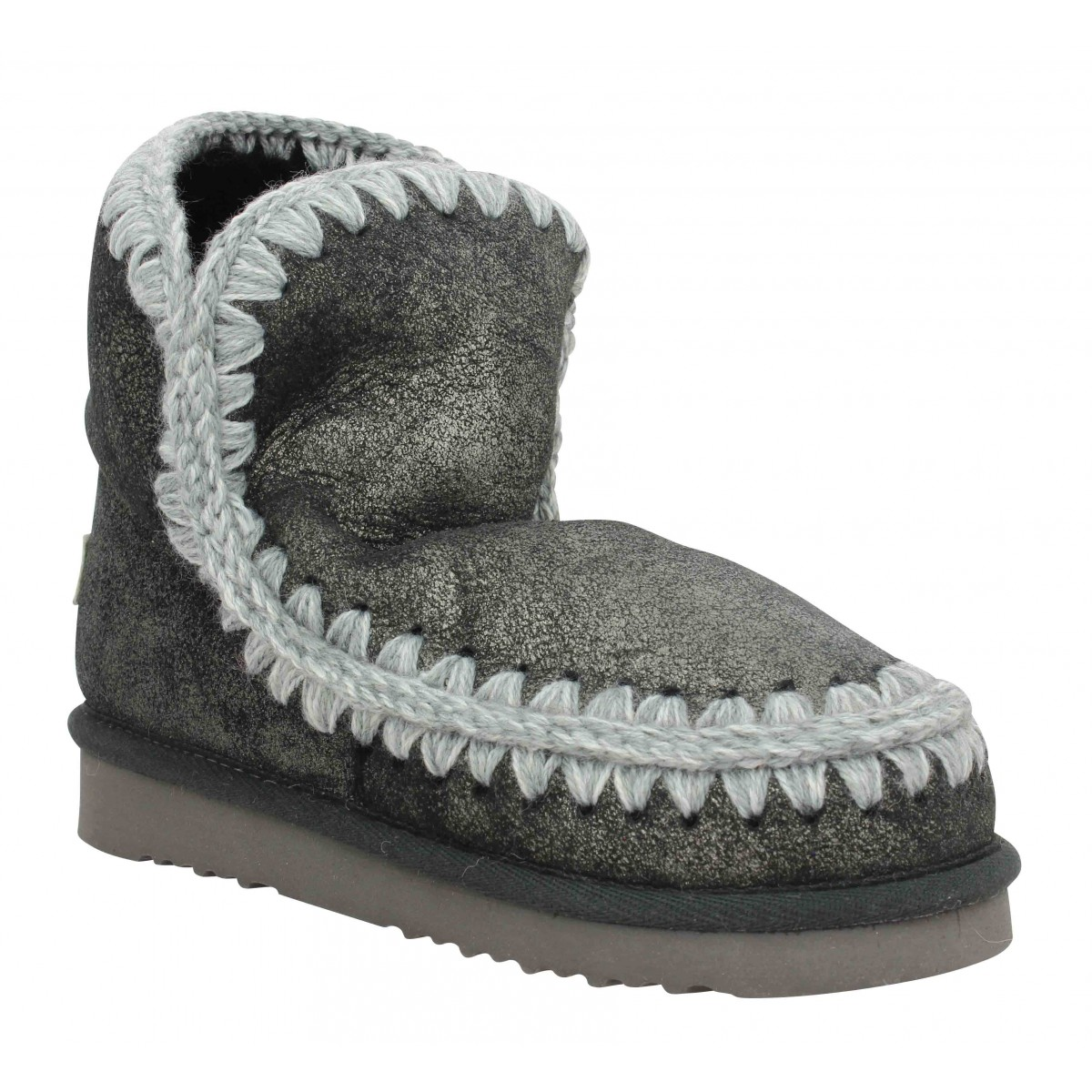 Bottines MOU Eskimo 18 velours Femme Dust