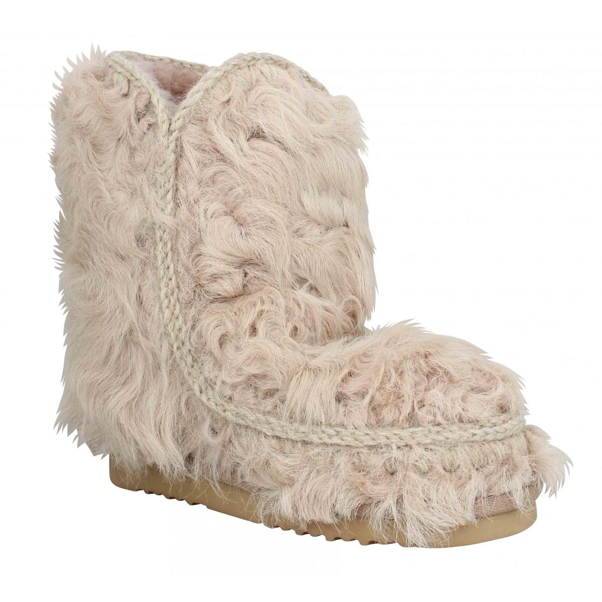 Bottines MOU Eskimo 24 laine Femme Camel