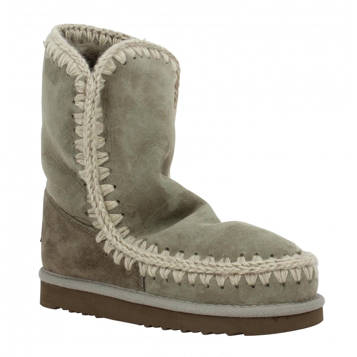 Bottes MOU Eskimo Boot 24 velours Femme Taupe
