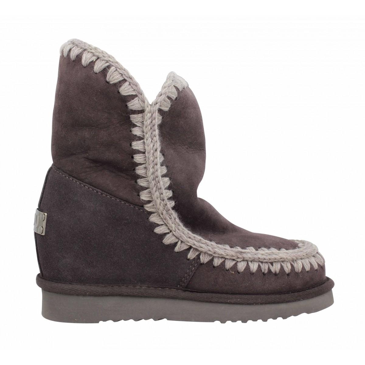 eskimo chaussures wedge short velours femme metalFanny Mou QdeWxrBoC