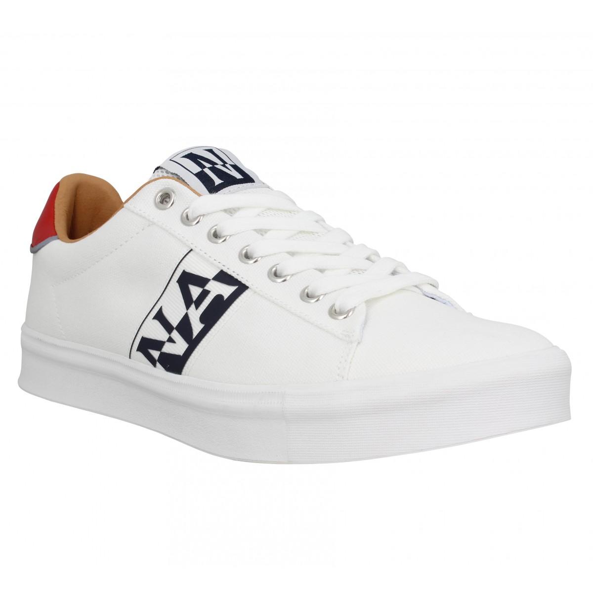 Baskets NAPAPIJRI Canvas Sneaker toile Homme Blanc