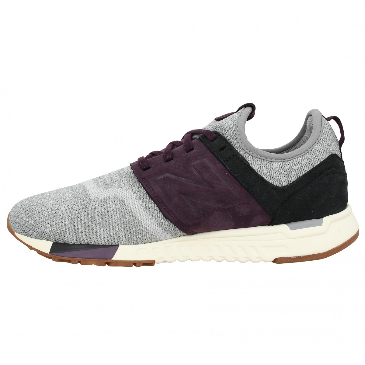 soldes new balance 247 luxe velours toile homme grey homme fanny chaussures. Black Bedroom Furniture Sets. Home Design Ideas