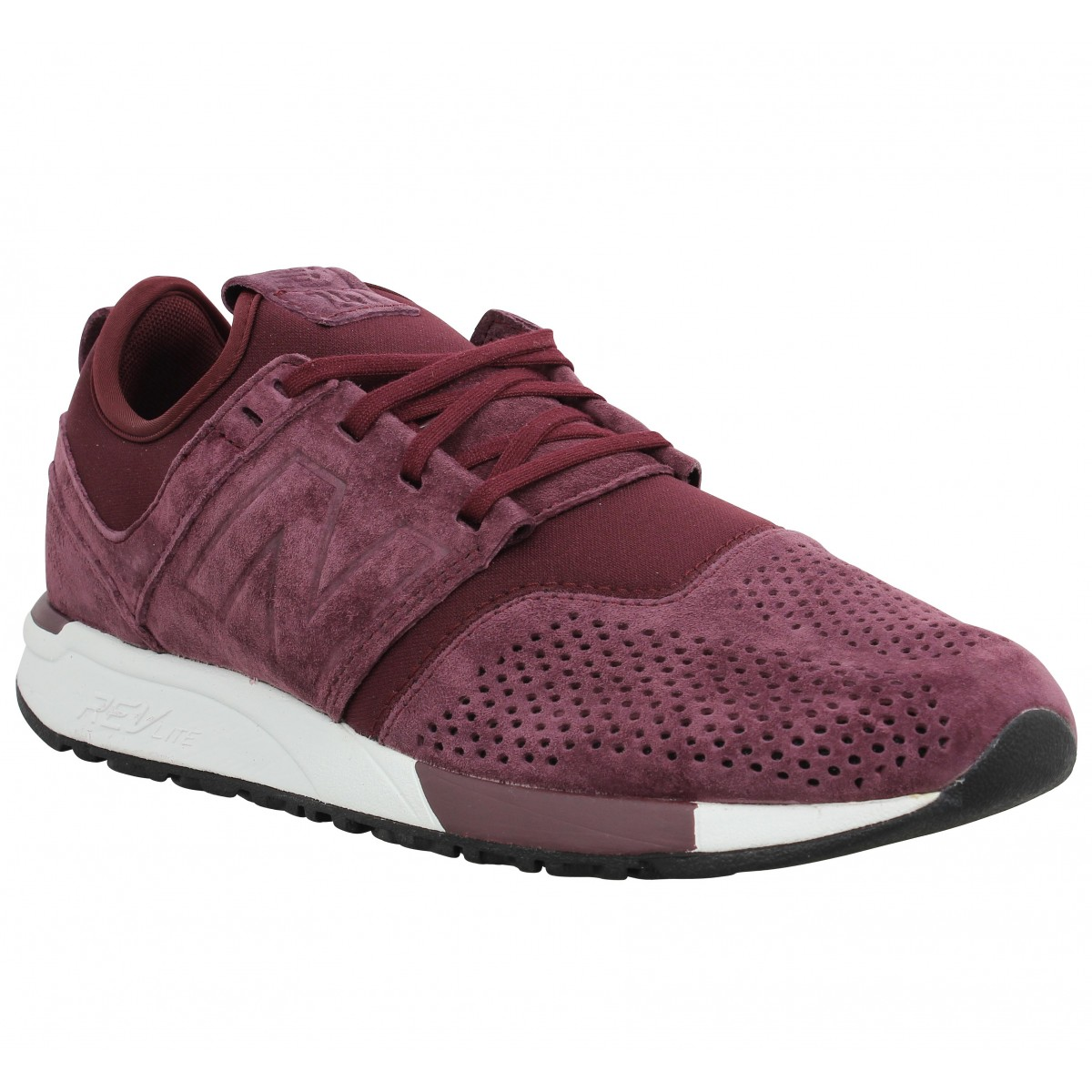 Baskets NEW BALANCE 247 suede Homme Bordeaux