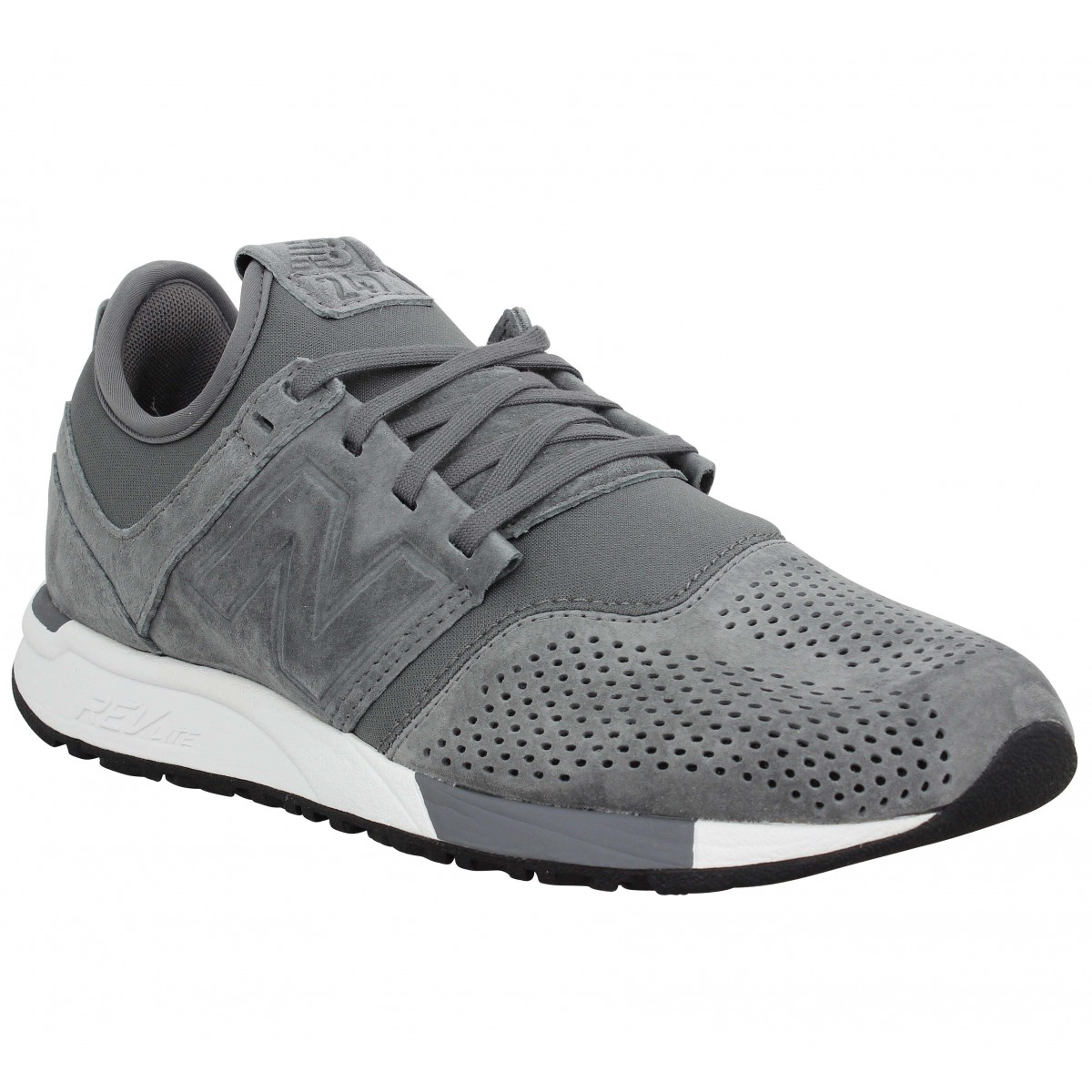 Baskets NEW BALANCE 247 suede Homme Gris