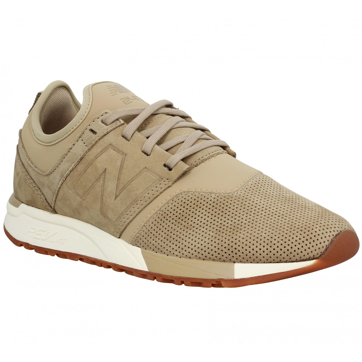 Baskets NEW BALANCE 247 velours Homme Marron Clair