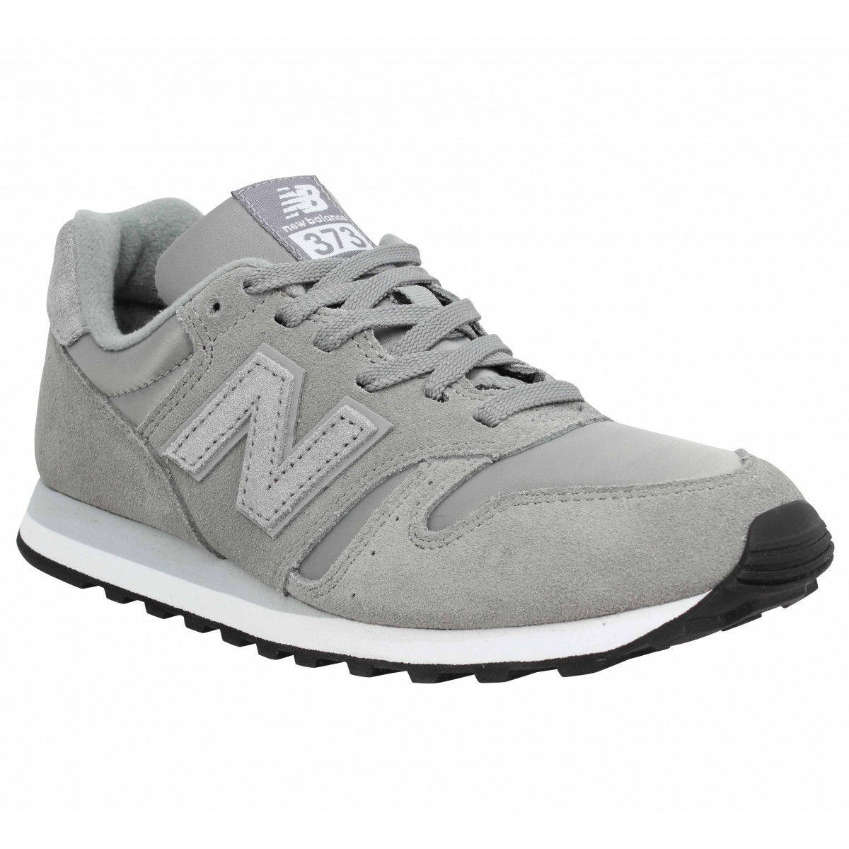 Baskets NEW BALANCE 373 velours Femme Gris