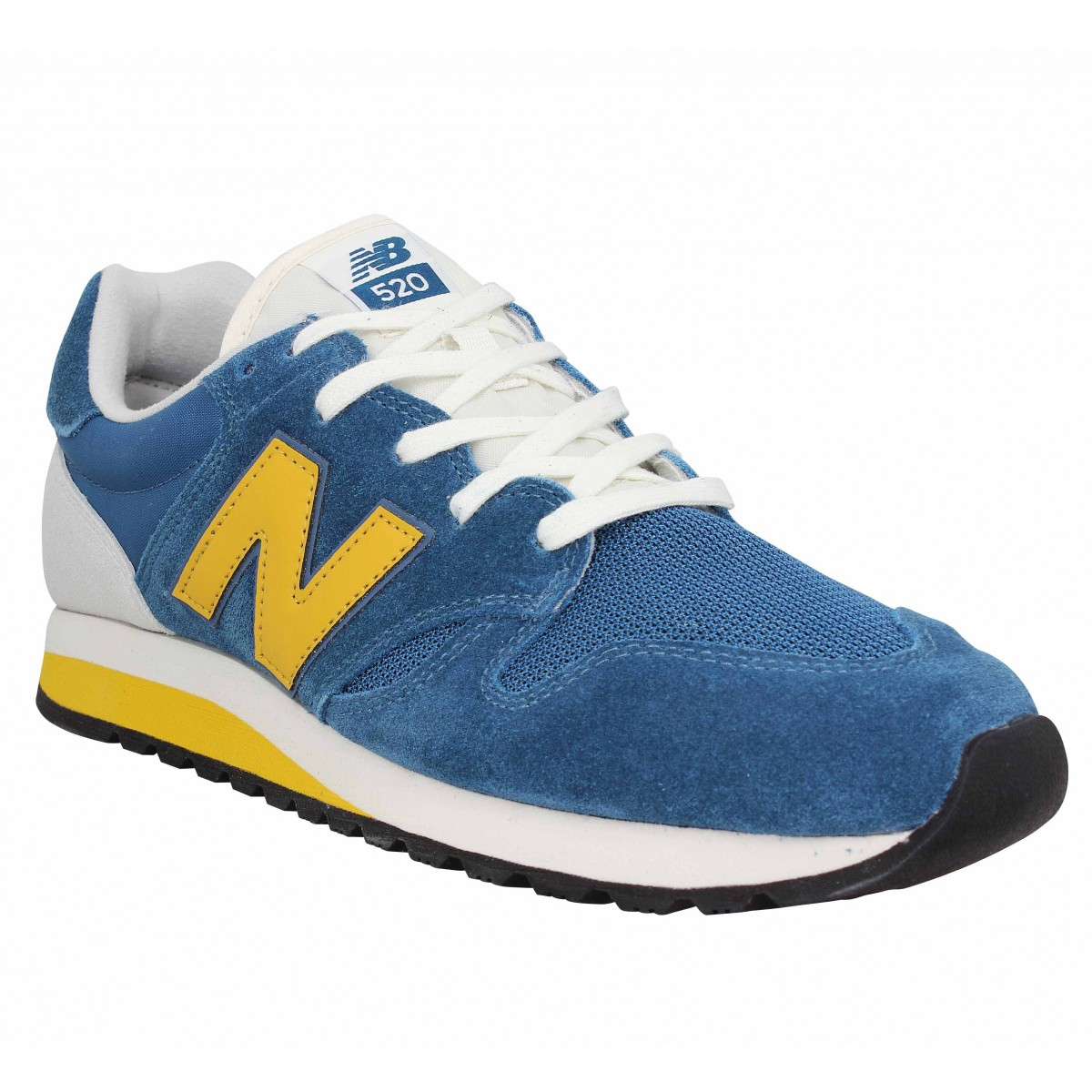 a4878f995aa1 Baskets NEW BALANCE 520 velours toile Homme Bleu