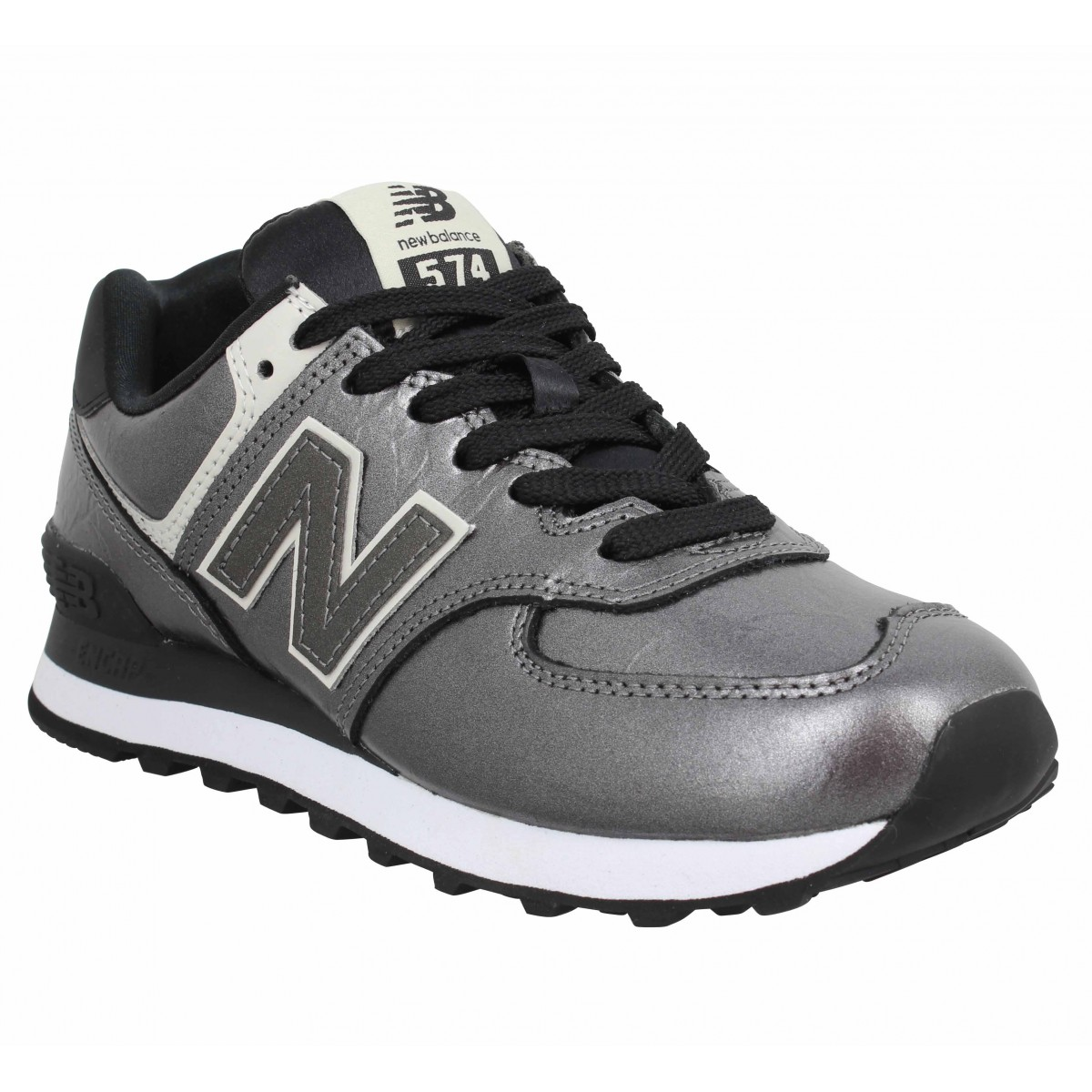 Baskets NEW BALANCE 574 metal Femme Anthracite